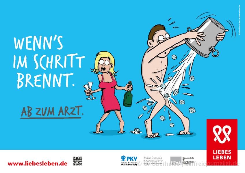 Sex-Plakatwerbung der BzGA 2016