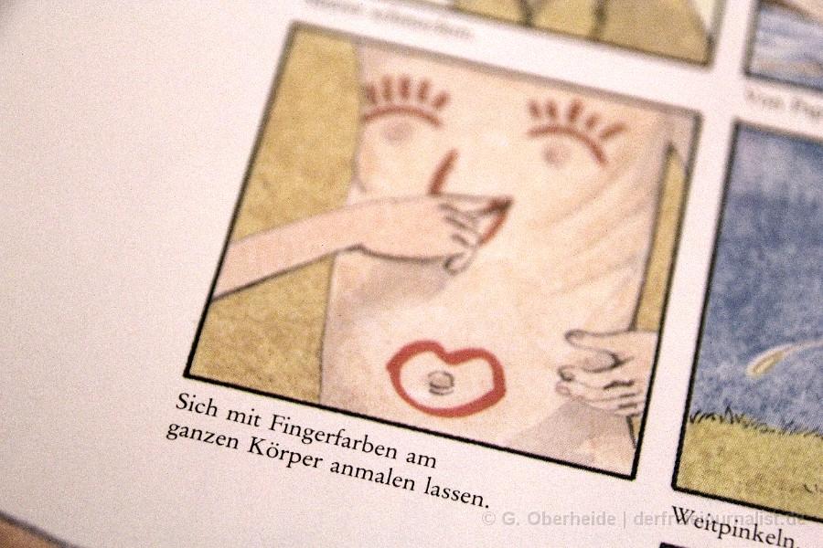 """aus: Frank Herrath/Uwe Sielert, """"LISA & JAN - Ein Aufklärungsbuch für Kinder und ihre Eltern"""" (Bilder von Frank Ruprecht), BELTZ-Verlag 1991, 3. unveränderte Auflage 1996"""