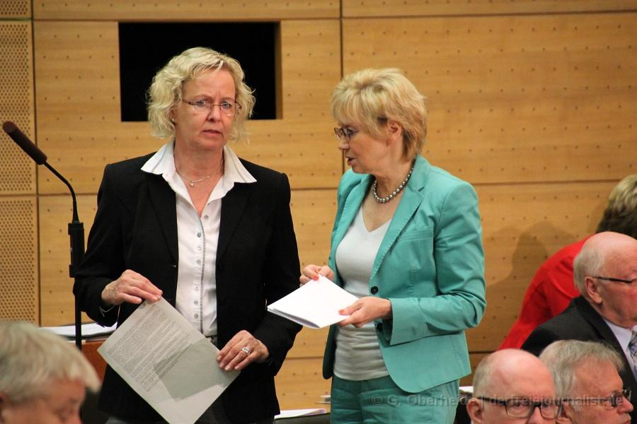 Ina Korter (GRÜNE), Karin Bertholdes-Sandrock (CDU)